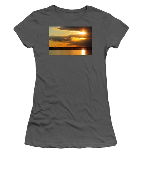 Sunset At National Harbor Women's T-Shirt (Athletic Fit)