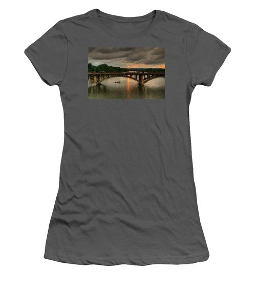 Sunset Fighting Through Women's T-Shirt (Athletic Fit)