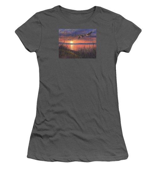 Sunset Flight Women's T-Shirt (Junior Cut) by Kim Lockman