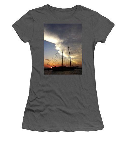 Sunset On The Turkish Gulet Women's T-Shirt (Athletic Fit)