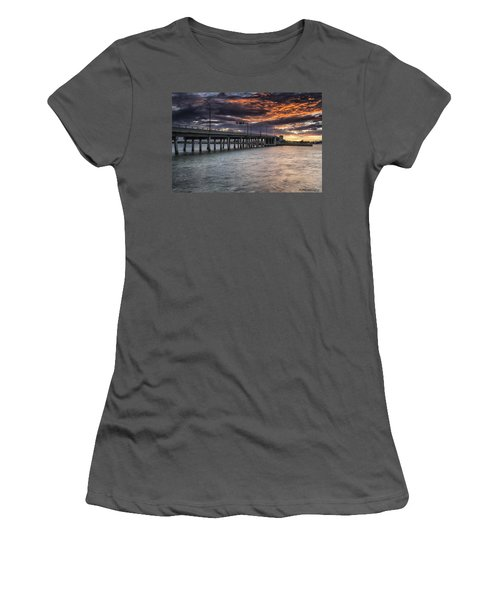 Sunset Over The Drawbridge Women's T-Shirt (Athletic Fit)
