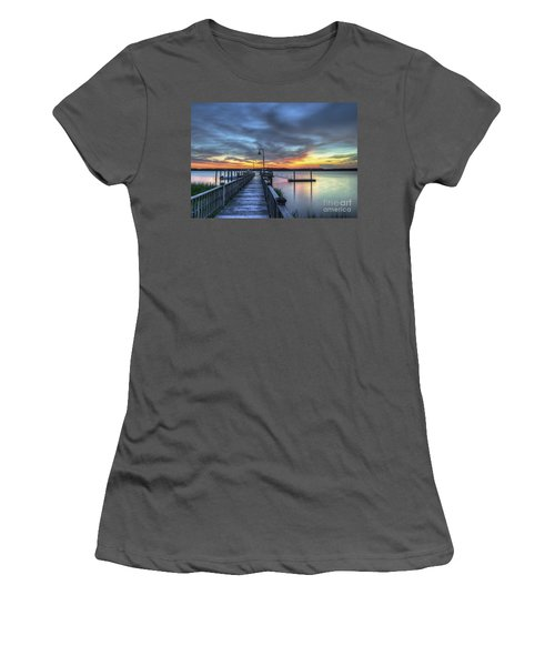 Sunset Over The River Women's T-Shirt (Athletic Fit)