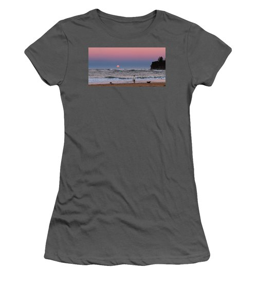 Supermoonrise Women's T-Shirt (Athletic Fit)