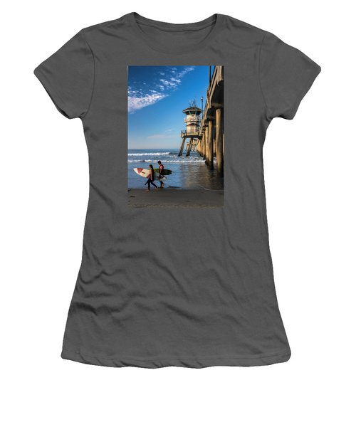Surf's Up Women's T-Shirt (Junior Cut) by Tammy Espino