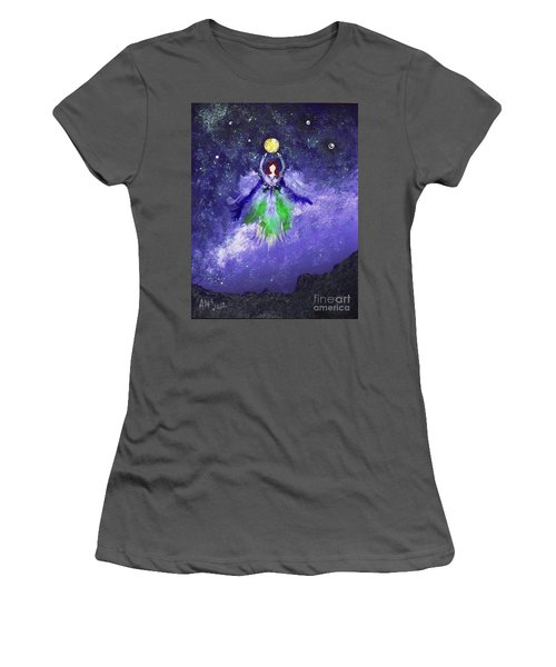Women's T-Shirt (Junior Cut) featuring the painting Survivor by Alys Caviness-Gober