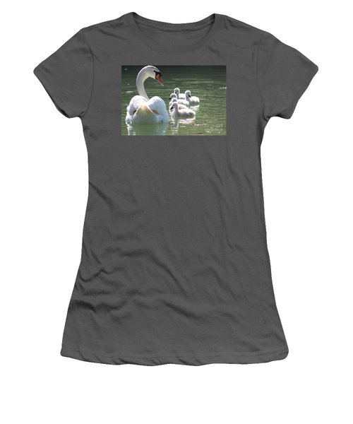 Swans  Women's T-Shirt (Athletic Fit)