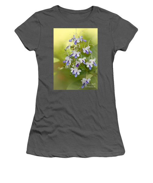 Sweet Butterfly Flowers Women's T-Shirt (Athletic Fit)