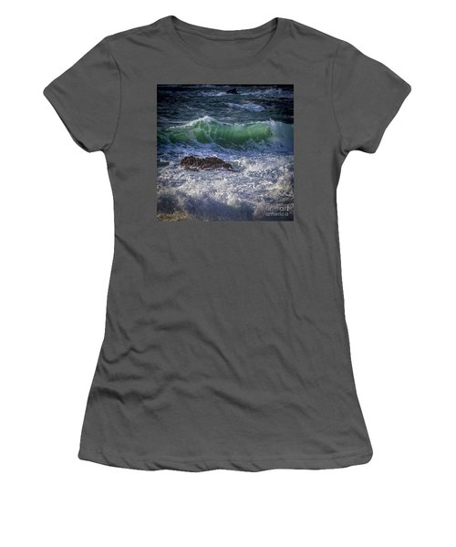 Swells In Doninos Beach Galicia Spain Women's T-Shirt (Athletic Fit)