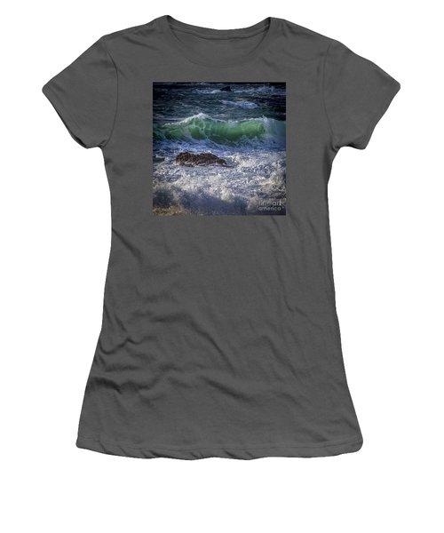 Swells In Doninos Beach Galicia Spain Women's T-Shirt (Junior Cut) by Pablo Avanzini