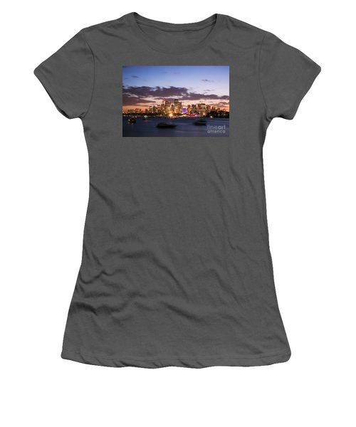 Sydney Skyline At Dusk Australia Women's T-Shirt (Athletic Fit)