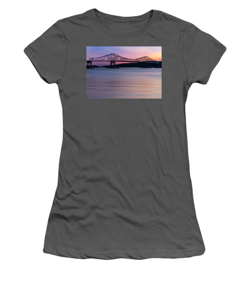 Tappan Zee Bridge Sunset Women's T-Shirt (Athletic Fit)