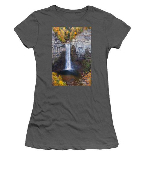 Taughannock Falls In Autumn Women's T-Shirt (Athletic Fit)