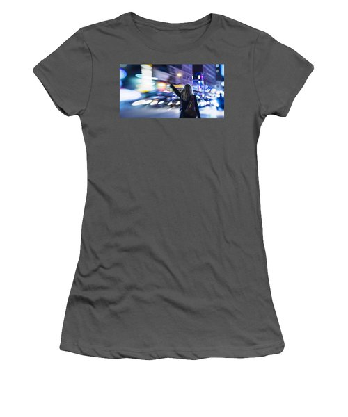 Taxi's Hunting In Manhattan Women's T-Shirt (Athletic Fit)