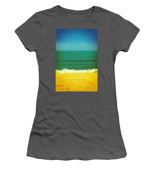 Teal Waters Women's T-Shirt (Athletic Fit)