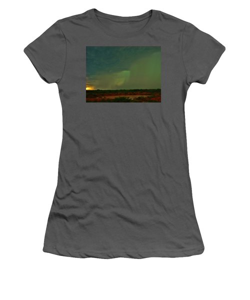 Women's T-Shirt (Junior Cut) featuring the photograph Texas Microburst by Ed Sweeney