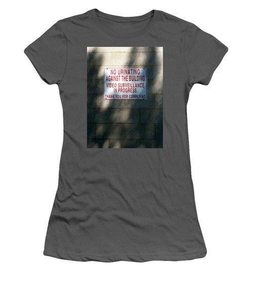 Thank You For Complying Women's T-Shirt (Junior Cut) by Lon Casler Bixby