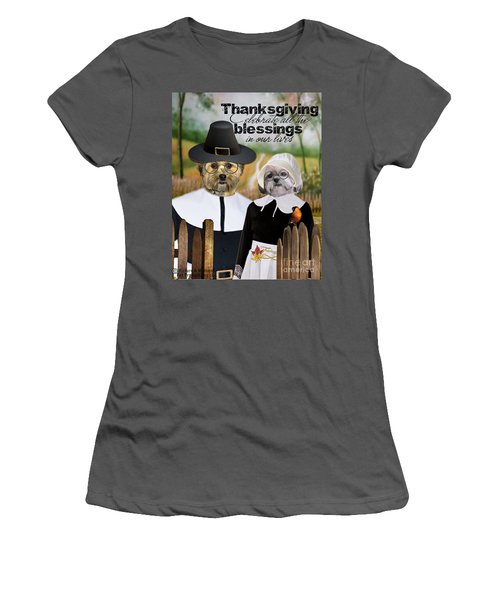 Thanksgiving From The Dogs Women's T-Shirt (Athletic Fit)