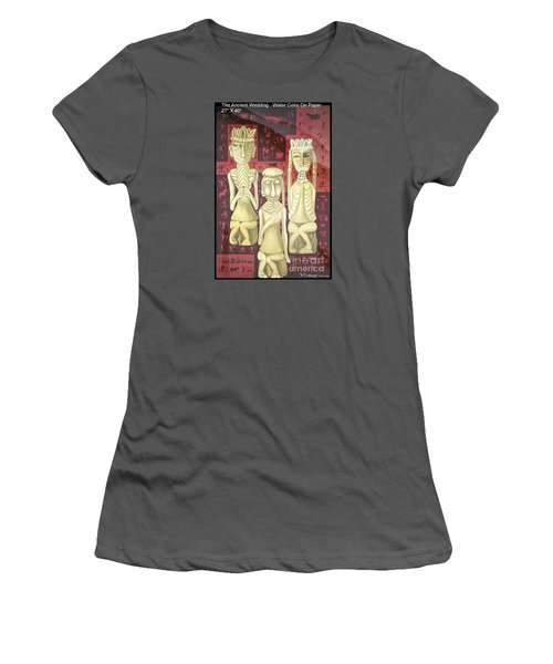 Women's T-Shirt (Junior Cut) featuring the painting The Ancient Wedding by Fei A