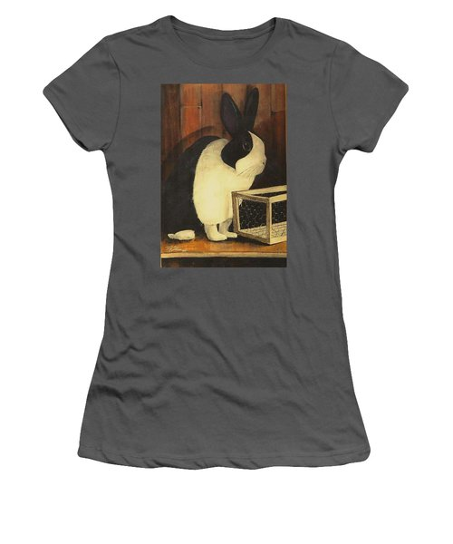 The Black And White Dutch Rabbit  2 Women's T-Shirt (Athletic Fit)