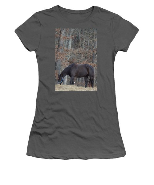 Women's T-Shirt (Junior Cut) featuring the photograph The Black by Maria Urso