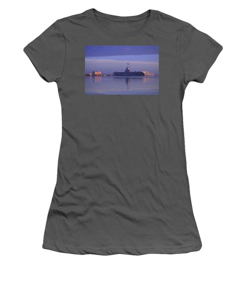 The Blue Ghost Women's T-Shirt (Athletic Fit)