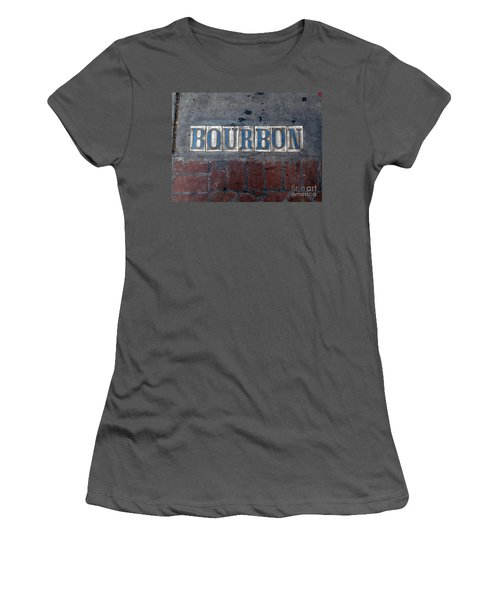 The Bourbon Street Sign Women's T-Shirt (Junior Cut) by Joseph Baril