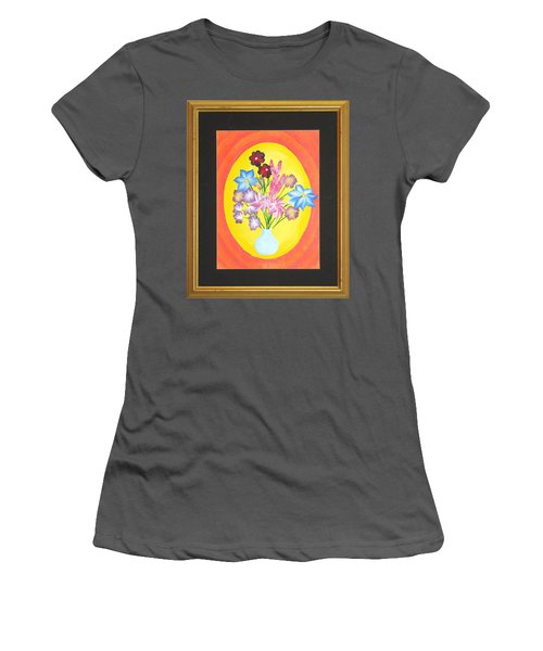Women's T-Shirt (Junior Cut) featuring the painting The Bud Vase by Ron Davidson