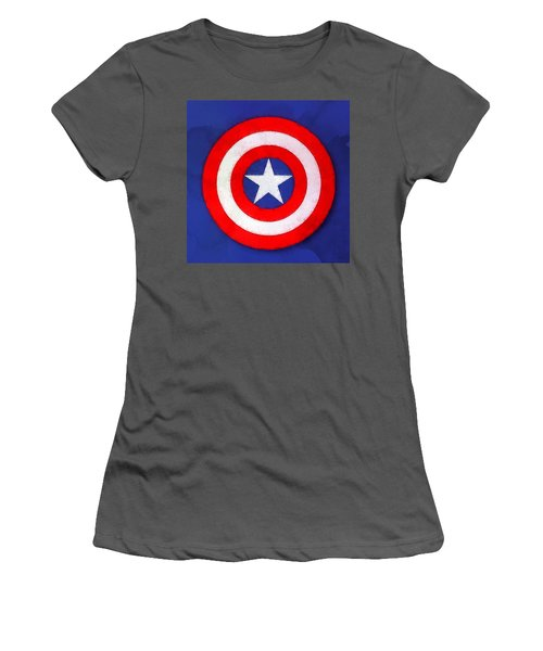 The Captain's Shield Women's T-Shirt (Athletic Fit)