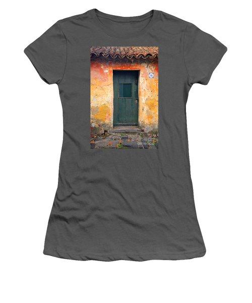 Women's T-Shirt (Junior Cut) featuring the photograph The Door by Bernardo Galmarini