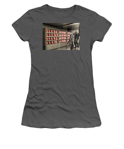Women's T-Shirt (Junior Cut) featuring the digital art The Doppleganger by John Alexander