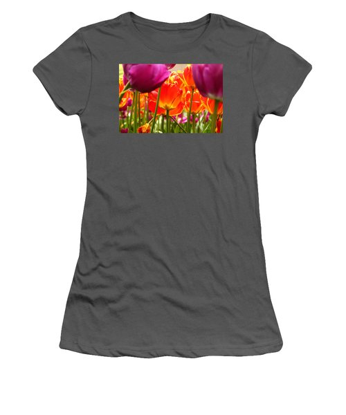 The Drooping Tulip Women's T-Shirt (Athletic Fit)