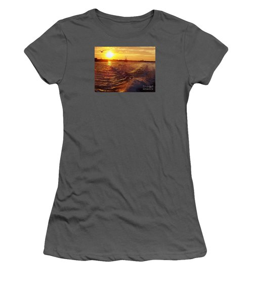 The End To A Fishing Day Women's T-Shirt (Athletic Fit)