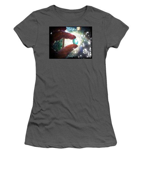 The Fairy Stone - Nature Angel  Women's T-Shirt (Junior Cut) by Absinthe Art By Michelle LeAnn Scott