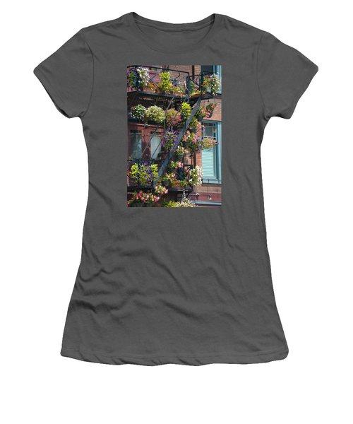 The Fire Escape Women's T-Shirt (Athletic Fit)