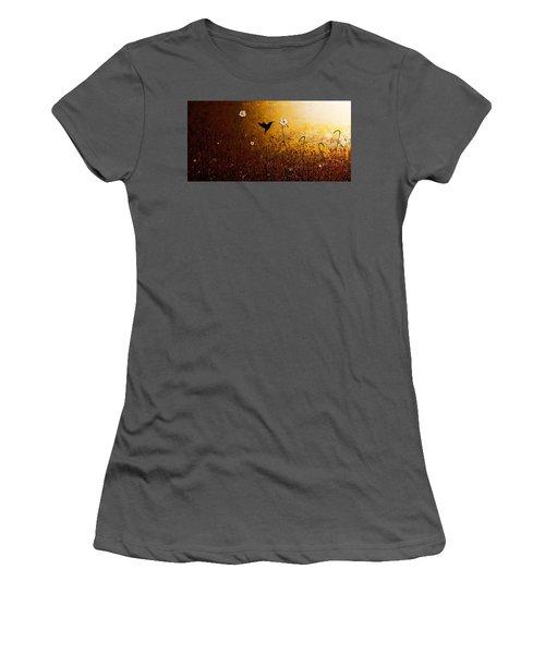 The Flight Of A Hummingbird Women's T-Shirt (Athletic Fit)