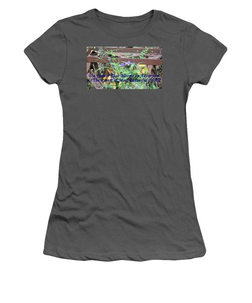 The Flower That Blooms In Adversity  Women's T-Shirt (Athletic Fit)
