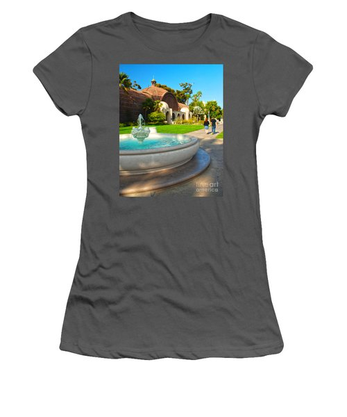 Botanical Building And Fountain At Balboa Park Women's T-Shirt (Athletic Fit)