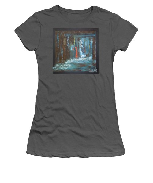Women's T-Shirt (Junior Cut) featuring the painting The Free Passage by Mini Arora