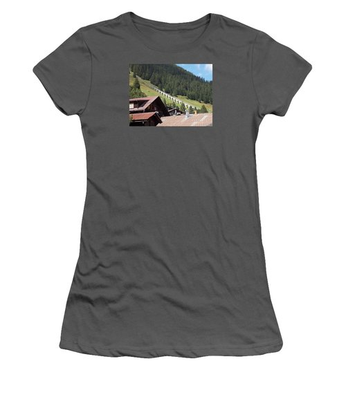 The Funicular In Murren Women's T-Shirt (Athletic Fit)