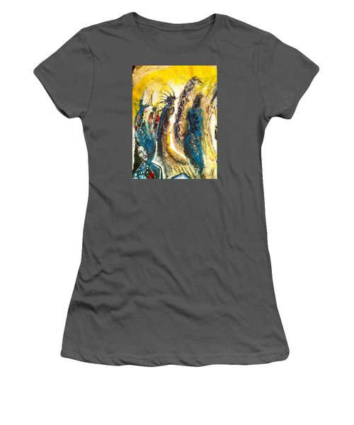 The Gathering Women's T-Shirt (Junior Cut) by Kicking Bear  Productions