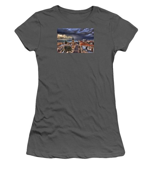 the Jaffa old clock tower Women's T-Shirt (Junior Cut) by Ronsho