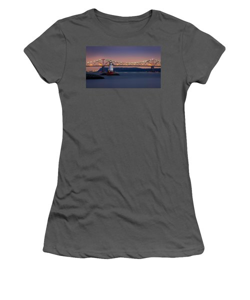 The Little White Lighthouse Women's T-Shirt (Junior Cut) by Mihai Andritoiu