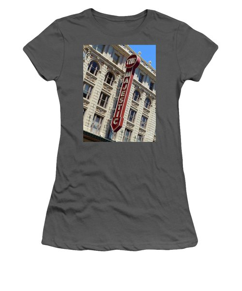 Women's T-Shirt (Junior Cut) featuring the photograph The Majestic Theater Dallas #2 by Robert ONeil