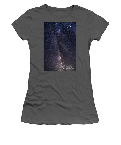 The Milky Way From Phippsburg Maine Usa Women's T-Shirt (Athletic Fit)