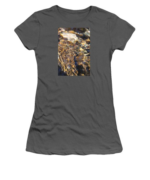The Music And Motion Of Water Women's T-Shirt (Junior Cut) by Amy Gallagher