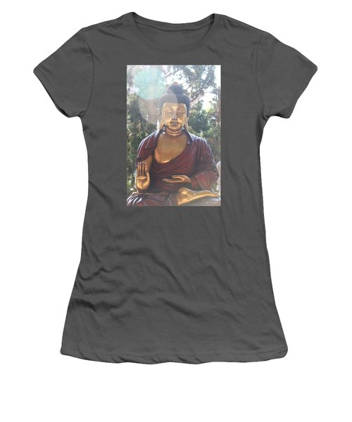 The Mystical Golden Buddha Women's T-Shirt (Junior Cut) by Amy Gallagher