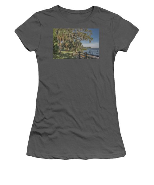 Women's T-Shirt (Junior Cut) featuring the photograph The Park by Jane Luxton