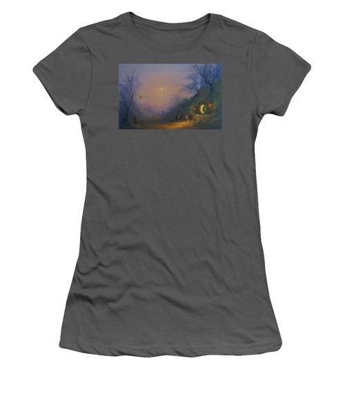 A Hobbits Halloween. The Pumpkin Seller. Women's T-Shirt (Junior Cut) by Joe Gilronan