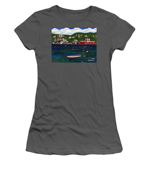 The Red And White Fishing Boat Carenage Grenada Women's T-Shirt (Athletic Fit)