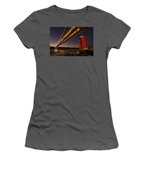 The Red Little Lighthouse Women's T-Shirt (Athletic Fit)